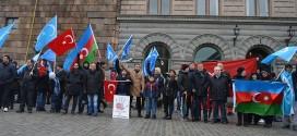 مظاهرة في السويد تنديداً بالقصف على جبل التركمان بسوريا