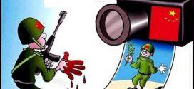 سلطات الاحتلال الصيني تكشف عن وجهها القبيح من دون تزييف وبلا أوراق توت
