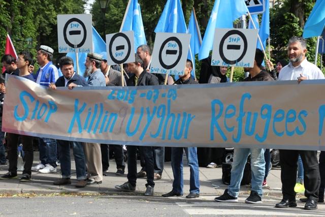 """""""stop killing Uyghur refugees"""""""